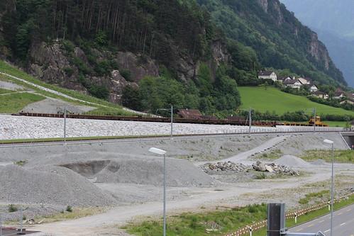 AlpTransit NEAT - Baustellenzug - Baustelle Erstfeld UR