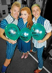 Joseph Fletcher, Lauren James Ray and Aaron Jenkins, Wicked London 9th Anniversary (troy david johnston) Tags: london costume oz balloon celebration musical wicked shiz aaronjenkins 9thanniversary josephfletcher troydavidjohnston laurenjamesray