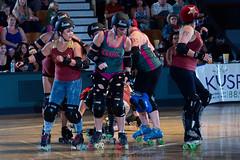 rebels_vs_panic_L3506439 1 (nocklebeast) Tags: ca usa santacruz rollerderby rollergirls zombies vampires skates organicpanic santacruzderbygirls redwoodrebels