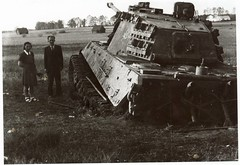 The fate of many Tiger II's <br />Stuck and Abandoned
