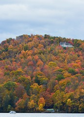 cheat lake, west virginia (brown_theo) Tags: autumn trees house lake west fall water leaves virginia boat foliage cheat