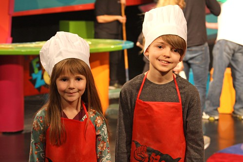Anna and Miles Petro on the set of The Weekly Special