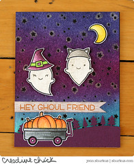 Hey Ghoulfriend! (jennshurkus) Tags: fall watercolor happyhalloween booyah spooktacular distressinks happyharvest snowybackdrop lawnfawn simonsayschallenge winkofstellaglitterpen forrestborderlawncuts