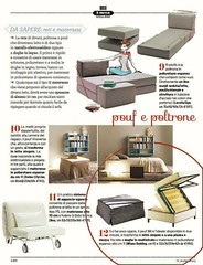 "Surprise guests? Among the ""pop up"" beds, suggested by CasaFacile, November issue, also our Bill #pouf, smart and practical. (Milano Bedding) Tags: pouf"