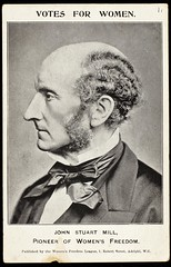 Postcard featuring John Stuart Mill,c. 1907.