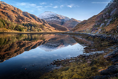 Stepping into Loch Beag (Damon Finlay) Tags: reflection water landscape scotland highlands fuji angle wide loch wilderness fujinon kinloch lochaber hourn scottishhighlands beag highlandsandislands xe1 kinlochhourn lochbeag fujixe1 fujinonxf1024mmf4rois