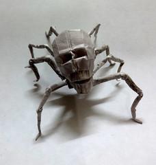 ORIGAMI SKULL SPIDER !! (Neelesh K) Tags: baby halloween angel paper skull spider origami dragon faces gothic creepy masks lincoln batman joker daredevil tracing wyvern uchiha neelesh madara boxpleating