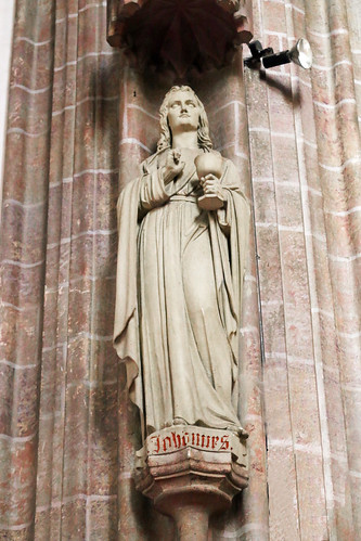Perchtoldsdorf. Pfarrkirche. Chor. Apostel Johannes 1863