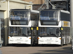 Libertybus 607 & 611 (Coco the Jerzee Busman) Tags: uk islands coach ct jersey plus channel libertybus