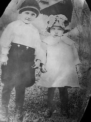 Arvil West & sister #2-1 (JLeeFleenor) Tags: pictures old photography virginia treasure photos va lesson hint restorations