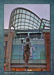 The Briggate Minerva (setsuyostar) Tags: sculpture leeds andyscott handheldhdr kenhawley dynamicphotohdr canoneos5dii december2015 winter2015 thebriggateminerva