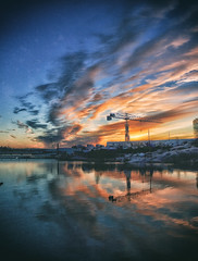 After this,i have a feeling,that... (BigWhitePelican) Tags: helsinki finland kaivopuisto morning sunrise reflections sea clouds canoneos70d adobelightroom6 niktools 2016 december