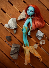 (Violet Lightning) Tags: doll ooak repaint remake custom monster high mattel mh dolls lorna mcnessie mermaid ginger blue