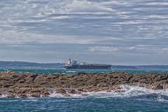 Western Port (gecko47) Tags: seascape rocks sea bay channel sealrocks thenobbies seals seabirds sleep rest freighter ship westernport gippsland victoria waves morningtonpeninsula phillipisland