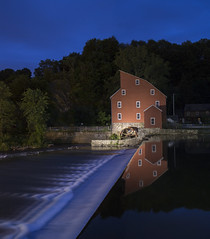 Clinton, NJ (• estatik •) Tags: clinton nj new jersey hunterdon county mill night historic picturesque museum chalk long exposure