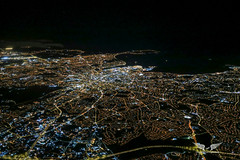 Dublin from the cockpit (gc232) Tags: dublin aerial city town night ireland skyline cities light live from flight deck altitude above fly flying airliner jet plane canon g7x