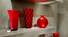 - Glass Art - (Jac Hardyy) Tags: glass art new red black chequers checked vase rund shape checkered plaid chequered vases vasen glas glaskunst kunst rot schwarz grau grey kariert form formen modern