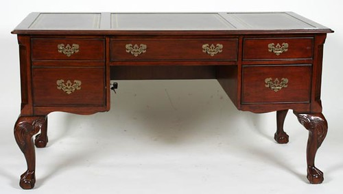 Heckman Chippendale Style Leather Top Desk ($448.00)