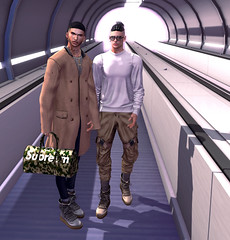 We're on our way (Levi Megadon // *OMG*) Tags: sl secondlife men mens style stylish blog blogger lotd look outfit clothes fashion clothing mesh event new doux hair minimal glasses valekoer techwear sweat sweater sweatpants pants loose baggy hxnor boots shoes themensdept tmd cool dope fresh
