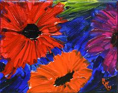 Dark Floral (BKHagar *Kim*) Tags: bkhagar art artwork painting paint acrylic floral flowers dark canvas