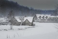 _MG_4481 (granulkag) Tags: winter landscape village cottage zima domki scandinavian dolina charlotty lake house