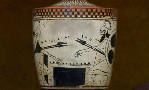"Petteia - Ludus Latrunculorum  / Iconografía de las civilizaciones helenolatinas • <a style=""font-size:0.8em;"" href=""http://www.flickr.com/photos/30735181@N00/32143106530/"" target=""_blank"">View on Flickr</a>"