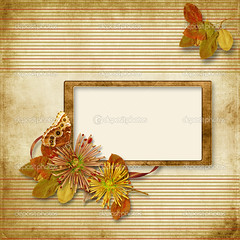 Vintage background with old frame and flowers (anaplantinha1) Tags: album anniversary age aged ancient backdrop background border archive art buttons card crumpled damask design element family fastener foliage fragmentary frame framework grandmother grunge herbarium heritage invitation isolated lace leaf letter memory nostalgia old paper path photo photography picture portrait remember retro rustic rusty scrapbooking sepia slide square stampframes torn victorian vintage scratch template rope edges edging