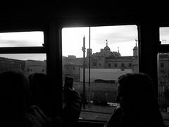 The view beyond silhouettes (LUMEN SCRIPT) Tags: silhouette window castle view beyond theviewbeyond blackandwhite blackwhite travel frame city monochrome light shadow lumenscript str people