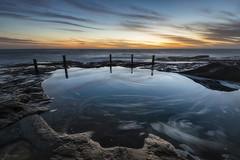 Spin Cycle (Crouchy69) Tags: sunrise dawn landscape seascape ocean sea water coast clouds sky rocks ivor ivo rowe pool coogee beach sydney australia