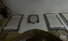 025-20120618_Abberley Norman Church-Worcestershire-memorial tablets in entrance (originally Vestry) above archway entrance to Nave (original Chancel) (Nick Kaye) Tags: abberley worcestershire england church memorial