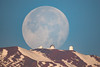 Mauna Kea Moonset (geekyrocketguy) Tags: maunakea hawaii hilo astronomy telescope telescopes bay bayfront coconut island liliokolani bigisland moon moonset thephotographersephemeris tpe nikon 1000 1000mm f11 mirror