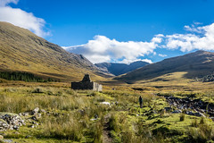 Ruined Cottage in the mountains of Knoydart in the Highlands of Scotland. (hutchison.fraser) Tags: landscape cottage ruined ruin highlands knoydart mountain scotland 2016