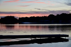Sunset, Kirkfield, ON (shireye) Tags: kirkfield on ontario canallake sunset nikon d610 24120 ff fullframe fx reflections dock lake