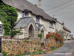 Thatched Cottages, Drewsteignton, Dartmoor, Devon