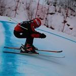 Tabor Western Ski Cross event Jan 2017 - Charlotte Gibson on the heals of Melinda Kobasiuk