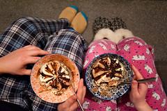 Day 7, Year 10. (evilibby) Tags: 365 36510 365days 365days10 libby jack icecream treat pajamas pjs bowl bowls couple moomins