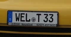 """world 33"" (ndrwfgg) Tags: numberplate german welt33"