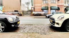 F2F (wiedenmann.markus) Tags: car mini minicooper cooper denhaag thehague city f2f facetoface parking urban auto automobile motion clubman coopers street road
