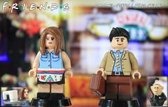 Custom LEGO Friends: Rachel Green & Ross Geller (LegoMatic9) Tags: custom lego friends figures rachel green ross geller