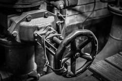 Indoor Market (Matthew Brown 7) Tags: huddersfield indoormarket sprinkler system wheel valve bw iron strap nikond750 50mm