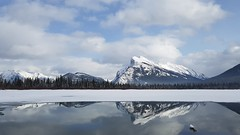 20170312_163553 (Wilson Hui) Tags: slightovercast banff alberta canada mountrundle sooc cellphonephotography cellphonecamera samsunggalaxys7 outdoors nature winter lake reflection partlycloudy rockymountains canadianrockies calm soothing serene water