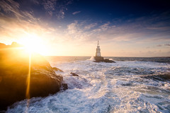 Ahtopol/Bulgaria (Vilian Raychev) Tags: ocean light sea summer sky cloud lighthouse black nature water colors sunrise landscape waves minolta outdoor sony ngc wave bulgaria filter lee nd gradient alpha 1735 a850 ahtopol km1735 dslra850 alphaforumnet
