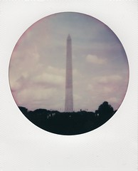 Around Washington III (BethBennet) Tags: color monument analog polaroid dc washington 600 frame round instant analogue colorshade theimpossibleproject