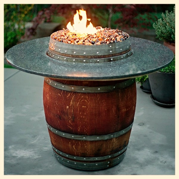Vin de Flame Grande Wine Barrel Fire Pit
