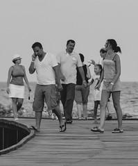 Noir et blanc (ost_jean) Tags: old people phone zwartwit sandals slippers gsm noirblanc