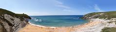 Playa de Tagle (dBer~) Tags: ocean travel blue light sunset sea summer sky espaa sun seascape beach water beautiful clouds sunrise mar spain sand rocks playa cielo panoramica hdr cantabria comillas increible sanvicentedelabarquera cabarceno
