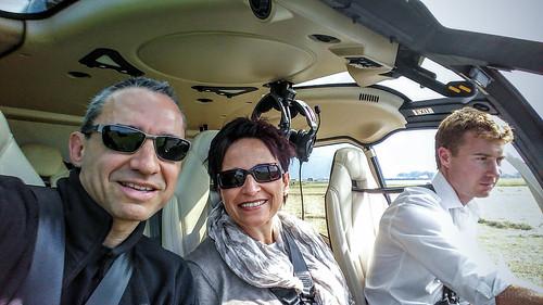 Walter und Katja beim Abflug
