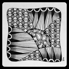 Footlites and more (ilienne) Tags: blackandwhite art zentangle wwwzentanglezooblogspotnl