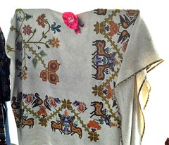 Embroidered Textile Mexico Mazahua (Teyacapan) Tags: museum mexico embroidery deer mexican textiles manta bordados venado edomex