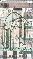 Architecture, green (kurberry) Tags: collage cutpaste vintageephemera architecturalcollage